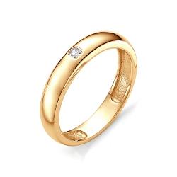 Обручальное кольцо с квадратным бриллиантом