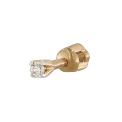Золотая серьга c бриллиантом SOKOLOV
