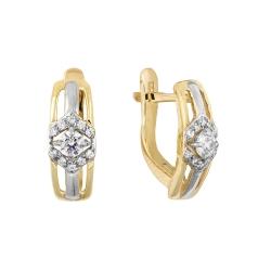 Серьги из красного золота с кристаллами Swarovski