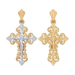 Крестик из золота c фианитами SOKOLOV