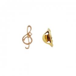 Значок из золота 585 пробы с фианитом