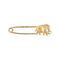 Брошь-булавка со слоном из красного золота