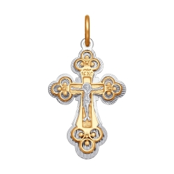 Крестик из золота без камней SOKOLOV