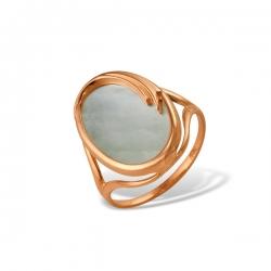 Кольцо из золота 585 пробы с перламутром
