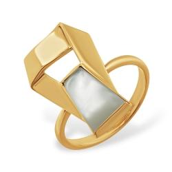 Кольцо из красного золота с перламутром