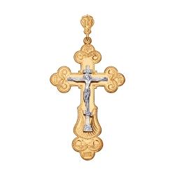 Мужской крестик из золота без камней SOKOLOV