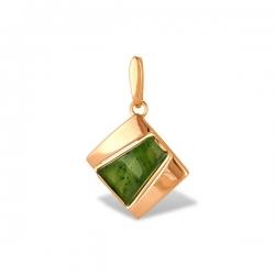 Подвеска из золота 585 пробы с нефритом