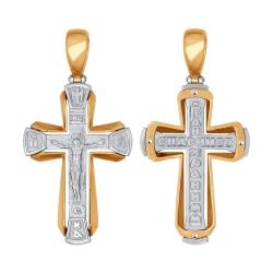 Мужской золотой крестик без камней SOKOLOV