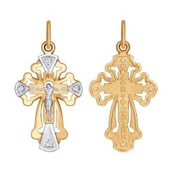 Золотой крест (Фианит) SOKOLOV