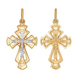 Золотой крест без камней SOKOLOV