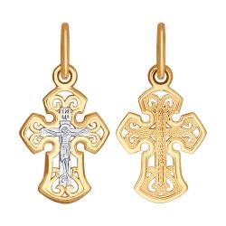 Золотой крестик без камней SOKOLOV