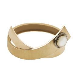 Эксклюзивный браслет из красного золота с перламутром и фианитами