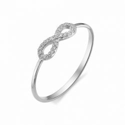 Кольцо Знак бесконечности из белого золота (Бриллиант)