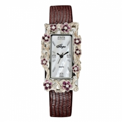 Часы с драг. металлом Flora Сакура, кварцевые