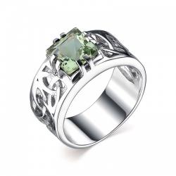 Мужское кольцо из серебра с кварцем