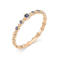 Женское кольцо из золота с сапфиром