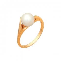 Кольцо из золота 585 пробы с жемчугом