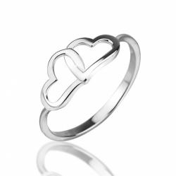 Детское кольцо из серебра без камней