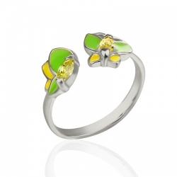 Кольцо для девочек с бабочками