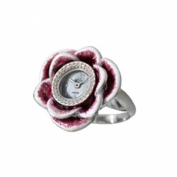 Часы-перстень серебряный Flora Роза