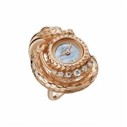 Часы-перстень серебряный Flora Дракон