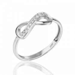 Серебряное кольцо с символом Бесконечность