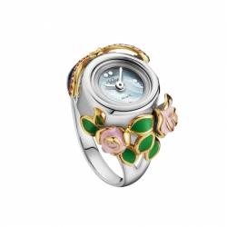 Часы-перстень серебряный Flora Стрекоза