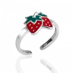 Детское кольцо из серебра с эмалью