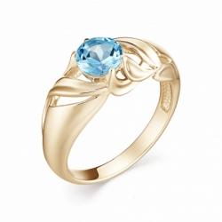 Женское кольцо из красного золота с топазом Swiss