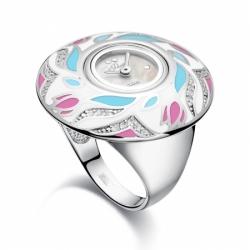 Часы-перстень серебряный Flora Нежность