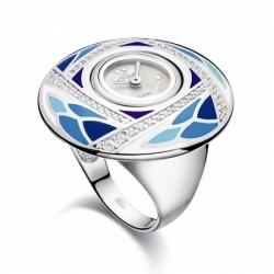 Часы-перстень серебряный Flora Лилия