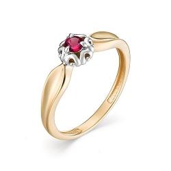 Женское кольцо из золота с рубином