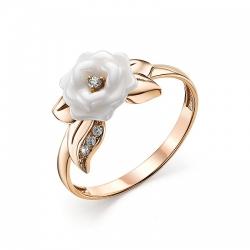 Женское кольцо из золота с керамикой