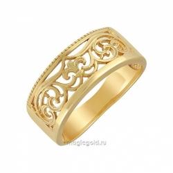 Кольцо без камня с золотым покрытием