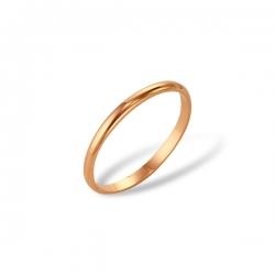 Классическое обручальное кольцо из красного золота