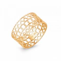 Ажурное кольцо Сердечки из золота