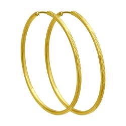 Серьги из желтого золота с алмазной гранью SOKOLOV