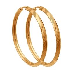 Золотые серьги конго без камней SOKOLOV