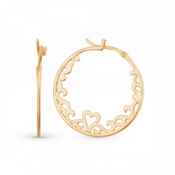 Ажурные серьги-кольца из золота