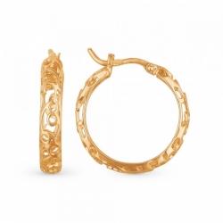 Ажурные серьги из золота