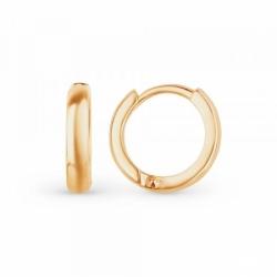Серьги-кольца из золота без вставок