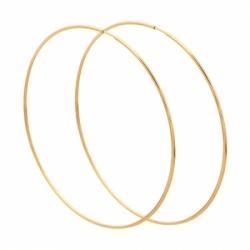 Серьги из золота диаметром 70мм