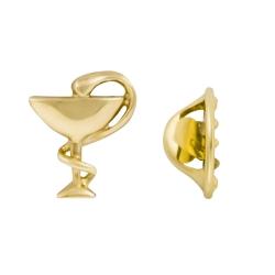 Значок Медицина из жёлтого золота 585 пробы