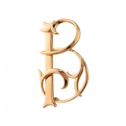 Брошь из золота Буква «В»