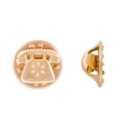 Значок в виде телефона из золота