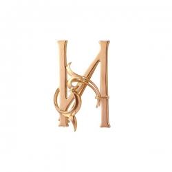 Золотая брошь Буква «И»