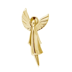Брошь Ангел из красного золота
