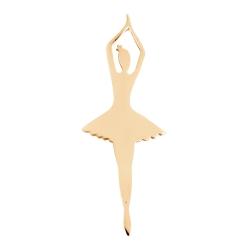 Брошь Балерина из красного золота