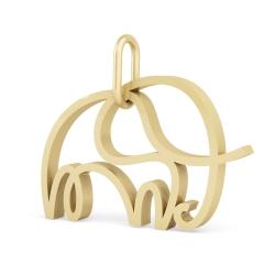Подвеска из золота Слон