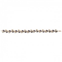 Золотой браслет с сапфиром и бриллиантами